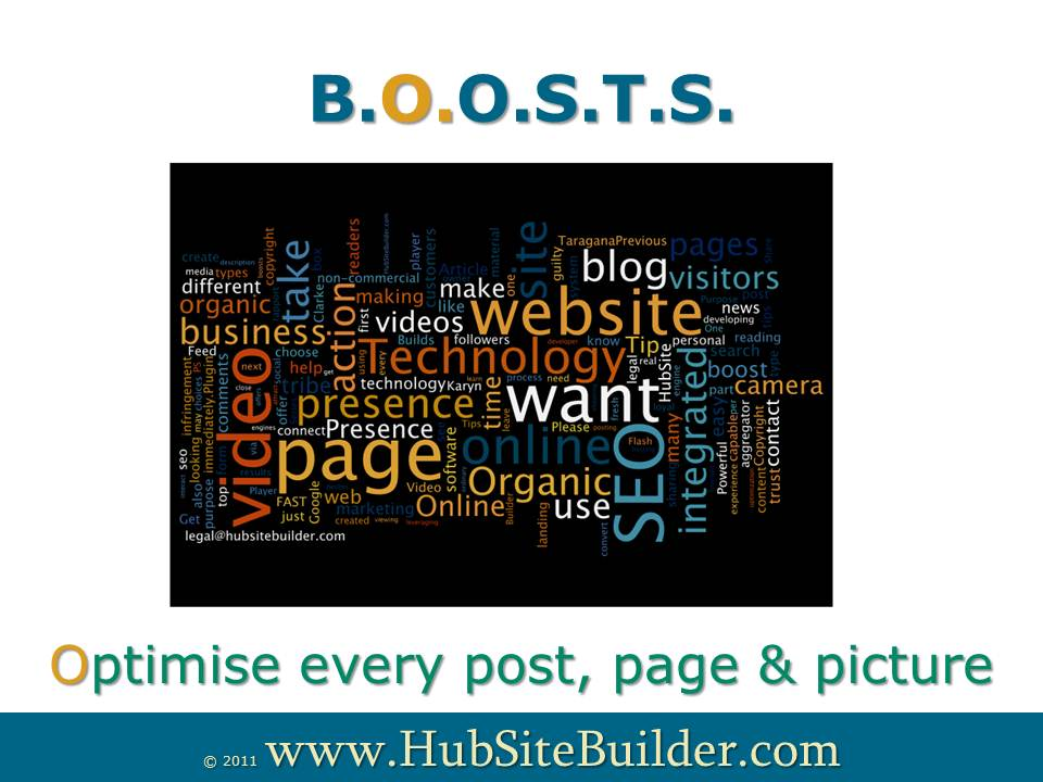 Optimise every post, page and picture with your keywords for organic seo