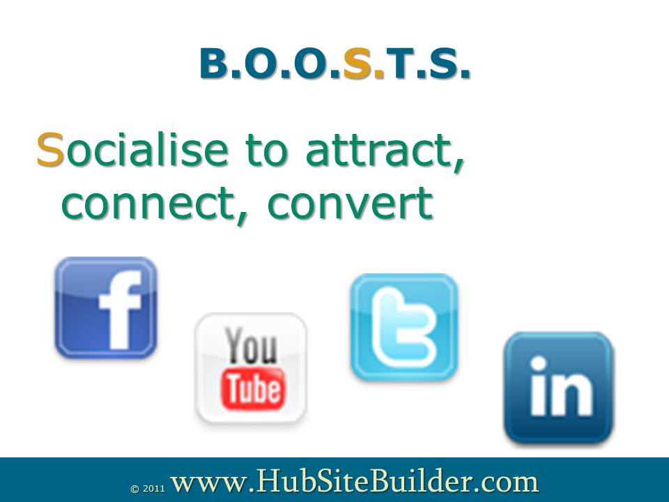 Socialise to attract, connect and convert