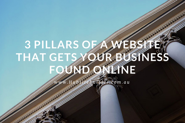 3 Pillars Of A Website That Gets Your Business Found Online…