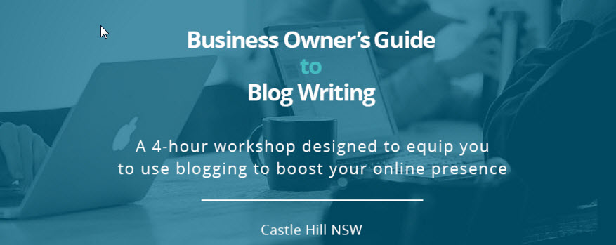 Business blogging workshop - live at Castle Hill - image
