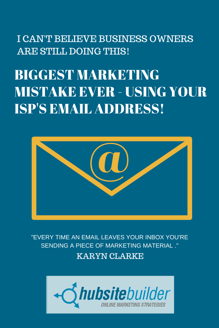 Biggest marketing mistake ever - using your ISP's free email address! - image