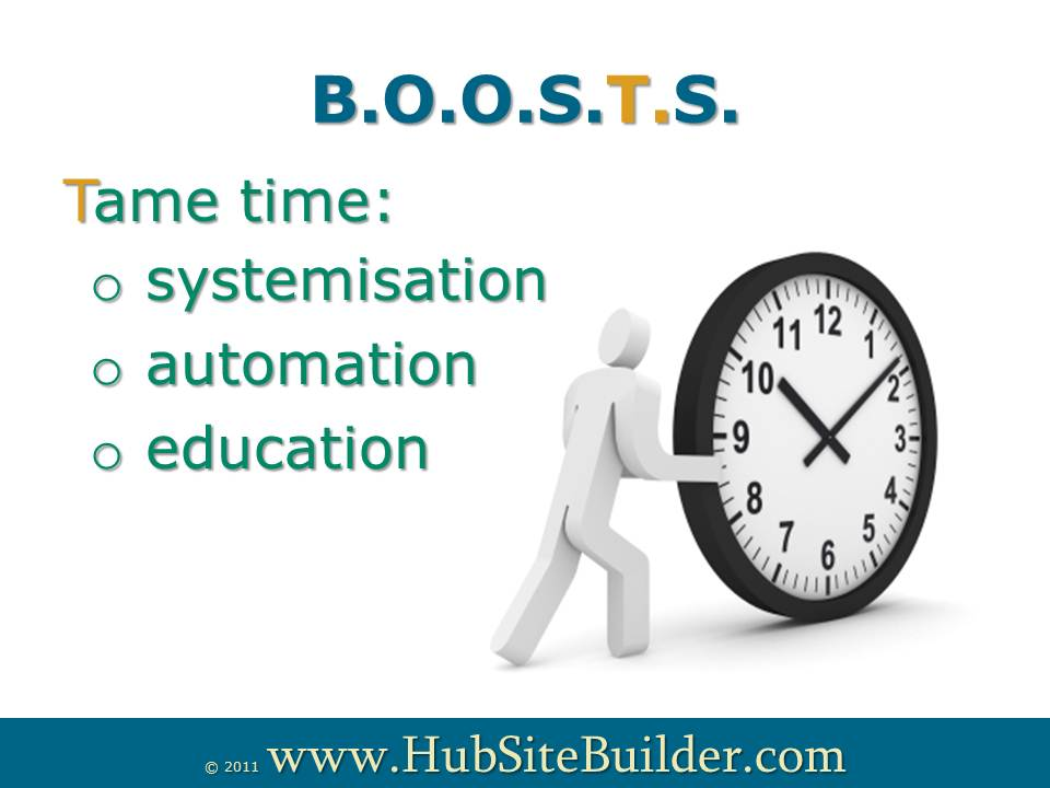 Tame time with systemisation, automation and education
