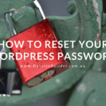 reset your wordpress password - image