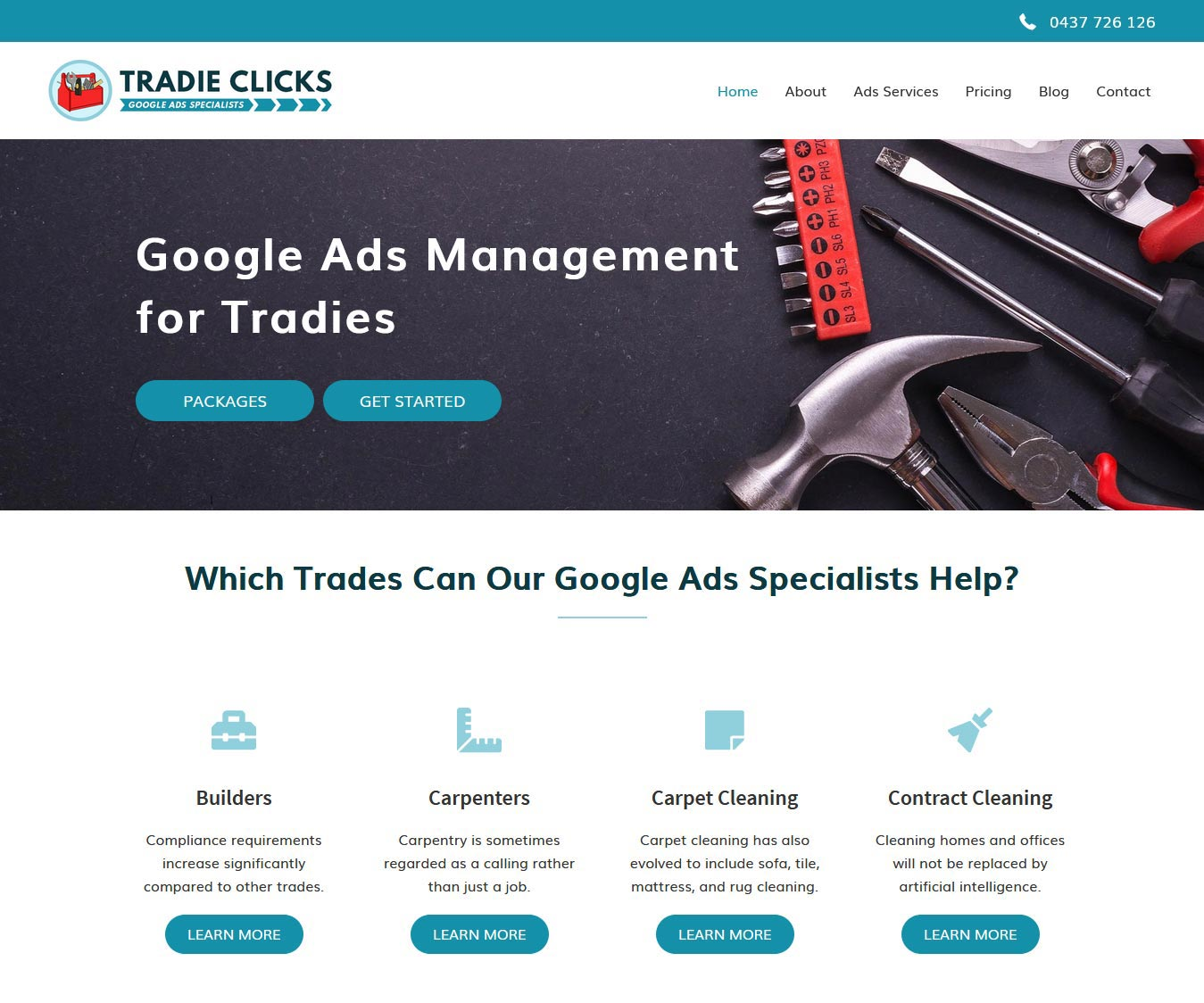 tradie-clicks-website