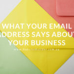 what your email address says about your business